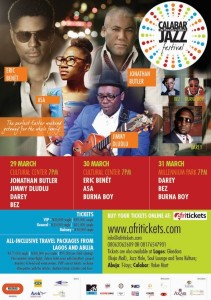 Darey Art Alade, Asa, Burna Boy for Calabar Jazz Festival