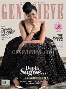 Fashion Icon Deola Sagoe covers June issue of Genevieve magazine