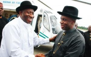 President Jonathan, Amaechi meet in Rivers State