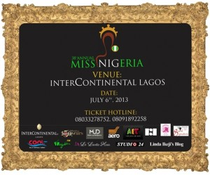 Update on the 2013 Miss Nigeria beauty pageant and charity ball