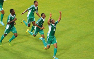 Mikel scores as Uruguay beat Nigeria 2-1