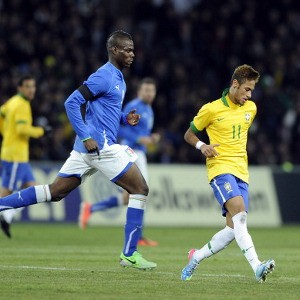 Neymar and Balotelli face off