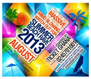 Up Coming Event: Summer Beach Rave 2013  By TicketGhana