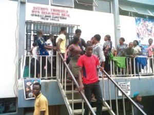 UNILAG students protest high food prices, shut shops