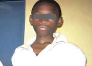 A 14-year-old Rilwan Olaniyi, confessed My mum told me to throw my cousin inside well