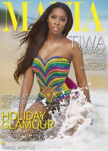 Tiwa Savage on the cover of StyleMania Magazine's June 2013 Travel Issue