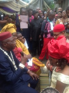 Traditional marriage of Nkechi Njoku Folaranmi
