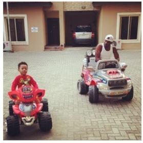 FUN DADDY: Peter Okoye Is Playing With His Cute Kids