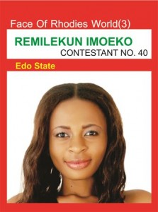 Meet Face Of Rhodies World(FRW) Contestant No. 40 – Joy Remilekun Imoeko