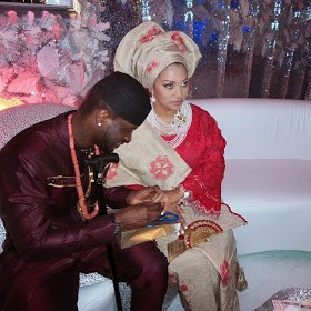 Photos From Peter Okoye & Lola's Traditional Marriage In Lagos.