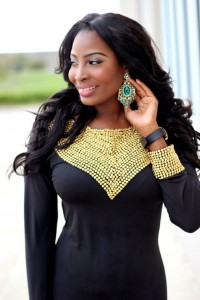 Agatha Looks Glam In New Kaftan Dress With A Touch Of Gold By Kaftancitra