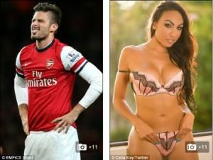 Arsenal striker Olivier Giroud has broken his silence on accusations of an extra-marital affair.