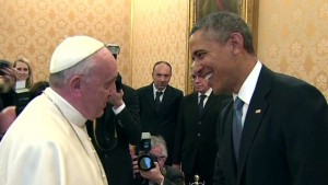 President Obama meets Pope Francis for the first time