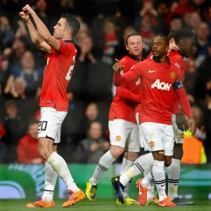 Robin van Persie`s hat-trick sends United into quarter-Final Of The UCL | Man United 3-0 Olympiakos.