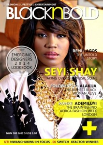 Seyi Shay Decked BlacknBold Magazine's Maiden Issue Cover