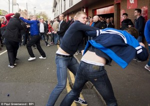 Tensions mounting: Steven Gerrard taunts lead to Liverpool and Chelsea fans clashing outside Anfield| Photos