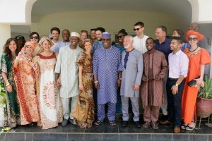 Former Vice-President, Atiku Abubakar Welcomes His American In-Laws To Yola Ahead Of Tomorrow's Wedding Ceremony