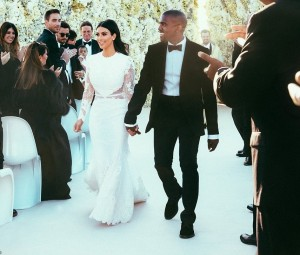 First Photos From Kim & Kanye's Wedding