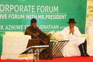 Jonathan Meets With Top Nigerian Business Leaders In Lagos