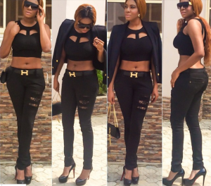 Photo: Chika Ike Stuns in All Black Outfit