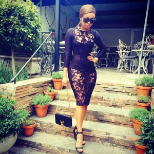 Photo:Bonang Matheba's Sheer Dress