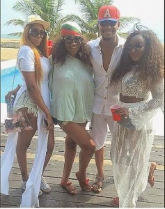 Photos: Ini Edo, Rukky Sanda & Ebube Nwagbo At  Valentine Beach Party