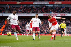 Mesut Ozil, Olivier Giroud, Theo Walcott, Santi Cazorla And Hector Bellerin All strike As Five-Star Gunners Crush Villans With 5-0 Win