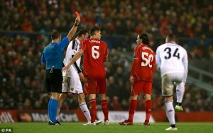 Lazar Markovic , Liverpool Winger Gets A four-Game Ban For Red Card Against Basle In Champions League.