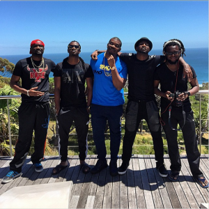 """Jude Okoye, Clarance Peters, Don Jazzy And P-Square Enjoys Beautiful Scenery In South Africa For The Shoot Of """"Collabo"""" Video"""