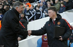 West Ham United Manager, Sam Allardyce Accuses Louis van Gaal's Team Of Playing Long-Ball Football