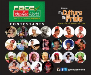 Unveiling: Contestants For Face Of Rhodies World Online Photo Contest  Season 6