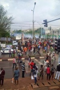 Photos: Protest In Enugu State Over Election Result Announcement