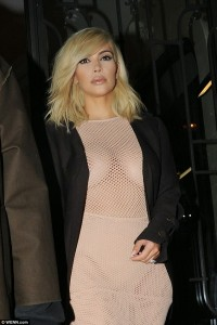 Photo: Kim Kardashian Changes Her Look And Steps Out In Very Revealing Dress