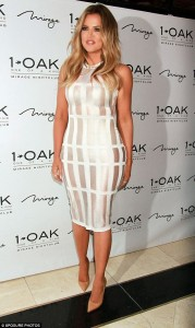 Photo ; Check Out Khloe Kardarshian's See Through Dress To  1 Oak Nightclub In Las Vegas