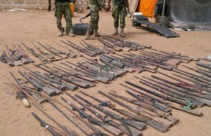 Photos : Military Discovers Another Bomb Factory In Gwoza, Women And Elderly Men Rescued