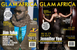 Beauty Queen, Jennifer Yeo & Jim Iyke Graced The Cover Of Glam Africa Magazine| Spring 2015 Edition