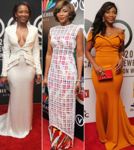 Photo : Which Of Genevive's Outfits To AMVCA Would You Rock?