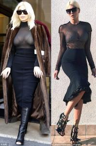 Photo Evidence: Kim Kardashian Accused of Stealing Serbian Pop Star's Style