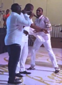 Video : Don Jazzy, D'Banj And Wande Coal Perform 'Pere' Together At Prince Oniru's Birthday