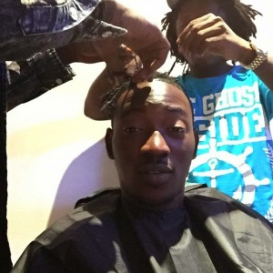 Photos : Dammy Krane Keeps His Promise,Shaves Dreads To Mark Buhari's Win