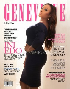 Ini Edo Covers Genevieve's April 2015 Issue