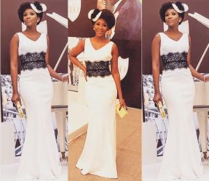 Photos : Genevieve Nnaji's Looks Stunning At Onyinye Carter's Wedding