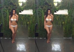 Kim K Marks World Earth Day With Beautiful Bikini Selfie