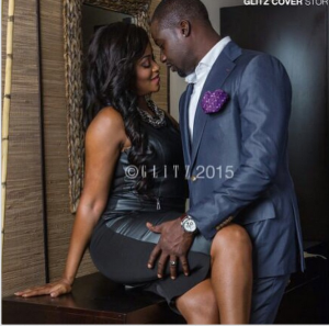 Photo : Chris Attoh Shares Hot Pic With Damilola Adegbite For Glitz Magazine
