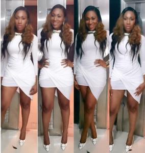 Photo : Ebube Nwagbo Dazzles In  All-white For Ini Edo's Birthday party