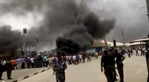 Protest In Uyo Over April 11th Governorship & HOA Elections –  Watch Video