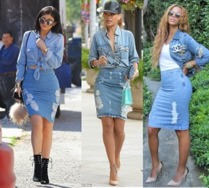 Who Rocked The Denim On Denim Better? Rihanna ,Kylie Jenner or Beyonce