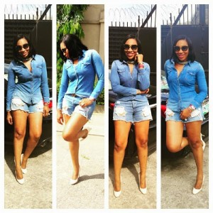 Photo : Actress Ebube Nwagbo Shows Off Her Hot Legs