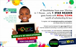 Press Release : Register Your Child For Reading House Africa Season 4