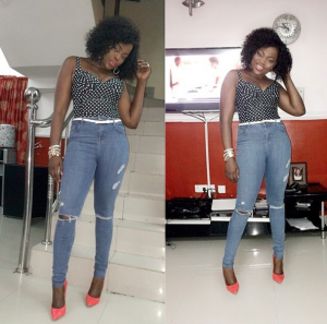Funke Akindele Steps Out In Sexy Ripped Jeans